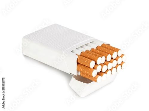 Fotografiet Open pack of cigarettes