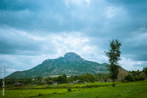 Landscape Of Clouds Over Hill Canvas Print
