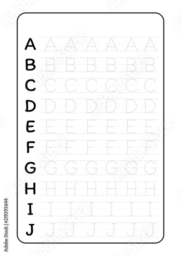 Alphabet letters tracing worksheet with alphabet letters ...