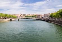Bridge Alphonse Juin Over Rhone River In Lyon, France