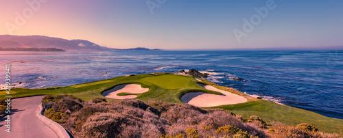 Fotoposter Golf Pebble Beach golf course, Monterey, California, USA