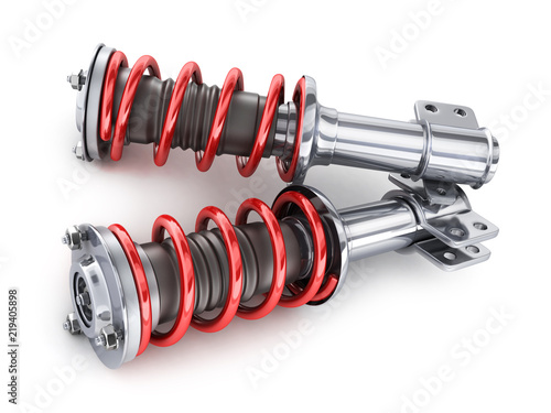 Photo Two shock absorber, car part