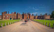 London - August 05, 2018: Walls Of The Hampton Court Palace In London, England