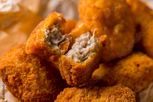 nuggets on wrapping paper