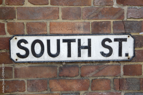 South Street Road Sign