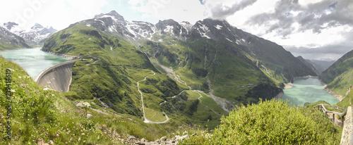 Austria, Salzburg State,Zell am See District, Mooserboden with the lake Wasserfallboden
