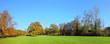 Leinwanddruck Bild Herbstlandschaft - Park Panorama