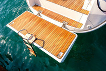 Deck Of Sailing Yacht From Teak