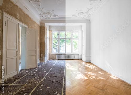 Obraz na płótnie home renovation concept - apartment room restoration