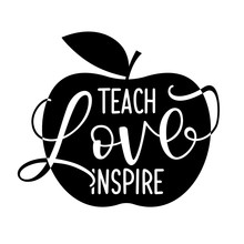 Teach Love Inspire - Black Typ...