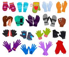 Glove Vector Woolen Xmas Mitte...