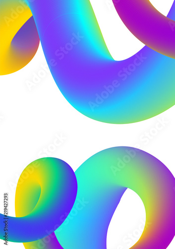 Abstract liquid colors background. Fluid shapes vector trendy gradients. Colorful graphic illustration. Geometric background molecule communication.