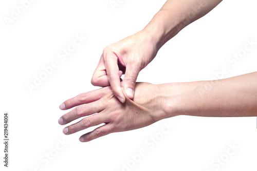 Fotografie, Obraz  Skin elasticity check