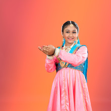 Portrait Of A Young Kathak Classical Indian Dancer