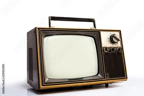 Photo  Vintage old television
