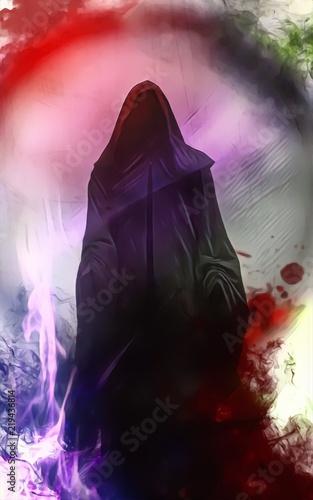 Tablou Canvas Il guardiano, oscuro guardiano, demone