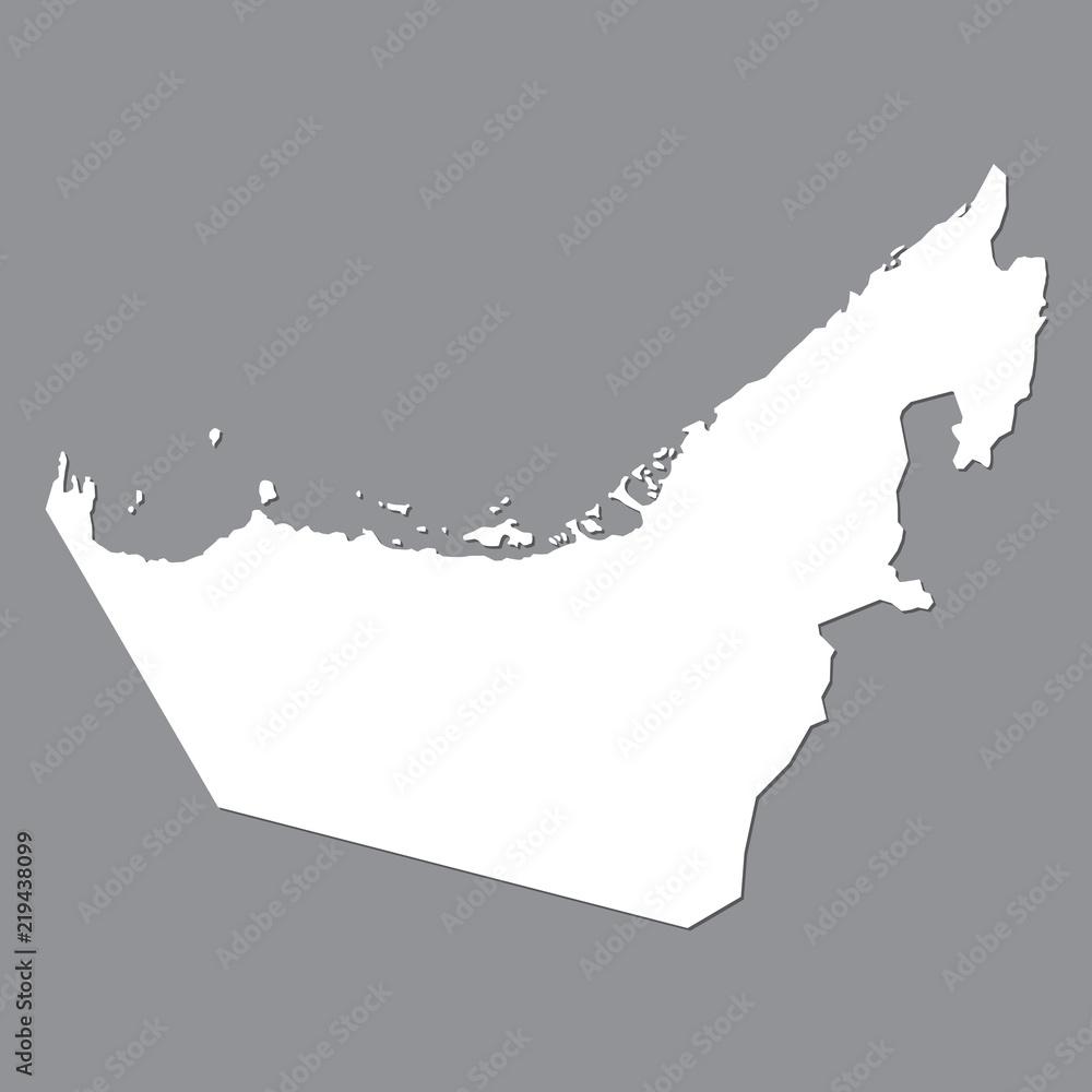 Blank map United Arab Emirates Foto, Poster, Wandbilder bei ...
