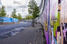 Peace Wall In Belfast, Northern Ireland