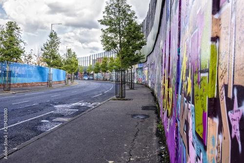 Fotografering Peace Wall in Belfast, Northern Ireland