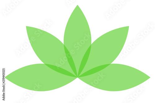 Flor De Loto De Color Verde Buy This Stock Vector And Explore