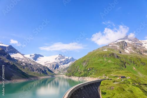 Plakat Alpejskie zbiorniki wodne - Mooserboden