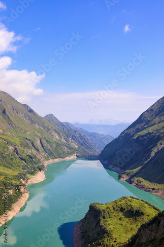 Plakat Alpejskie zbiorniki wodne - Mooserfallboden