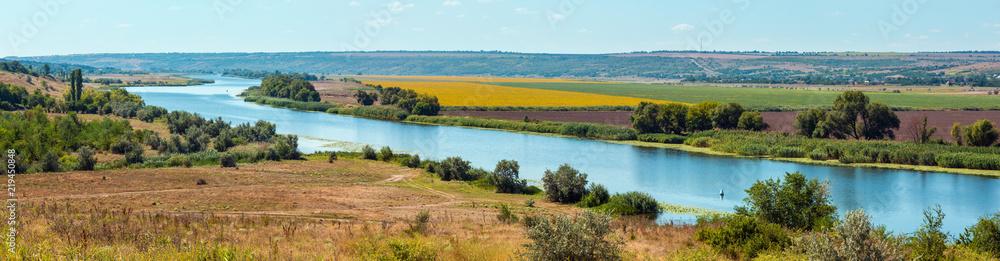 Fototapety, obrazy: Summer Southern Bug river, Ukraine