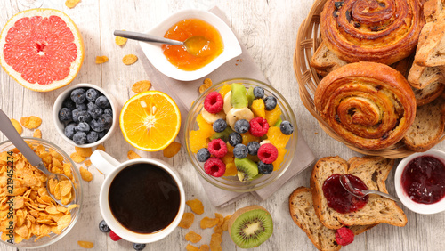 healthy continental breakfast Canvas Print