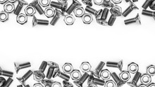 Nuts And Bolts Isolated On Whi...