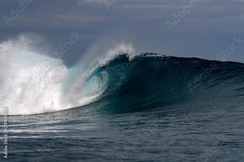 Stickers pour porte Eau Surf wave tube detail