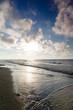 Polski krajobray morze fale Jastrzębia Góra