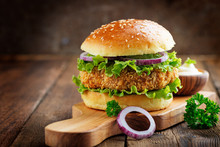 Fresh Tasty Chicken Burger On ...