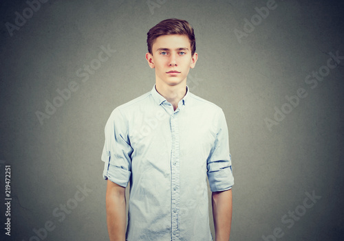 Casual young man in blue shirt Slika na platnu