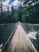 Suspension Bridge Over A River