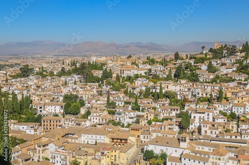 Albaicin in Granada, Spain  Old Town of Granada from above  - Buy