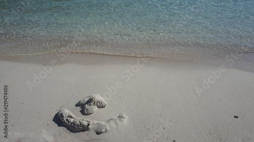Orilla de playa de agua cristalina (Mallorca)
