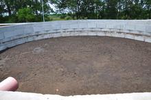 Concrete Compost For Manure On A Farm