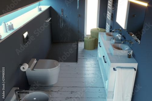 Stock Di Arredo Bagno.Bagno Moderno Arredamento Completo Di Sanitari Doccia E