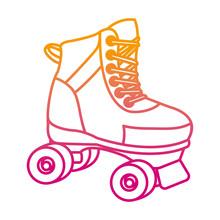 Degraded Line Roller Skate Fun...