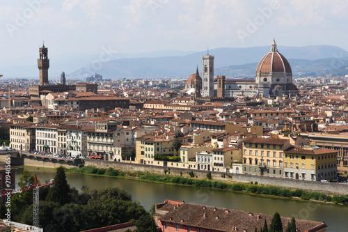 Firenze - Cupola Brunelleschi e Palazzo Vecchio da piazzale Michelangelo