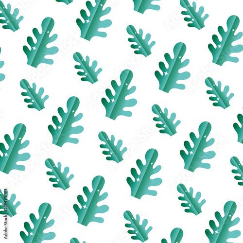 Αφίσα  botanic cute leaf style background