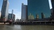 Chicago River and skyscrapers