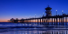 Huntington Beach Pier At Dusk,...