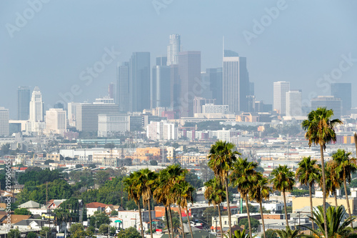 Poster Los Angeles Los Angeles downtown skyline