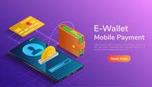 Isometric Wallet And Credit Ca...