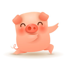 Little Pig. Chinese New Year. The Year Of The Pig.