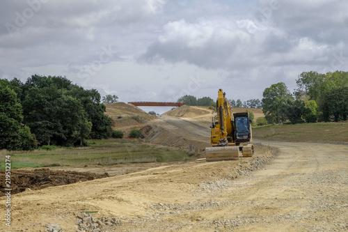 chantier routier Fototapeta