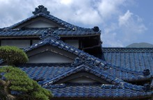 Blue Roof Of A Japanese Tradit...