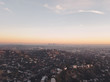 Aerial Drone Shot of Los Angeles Hollywood Sign Hills Sunset