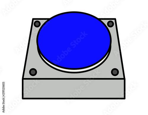 Photo  発射ボタン(青)